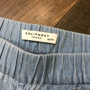 Equipment Pants - Equipment Femme Chambray Pants XS